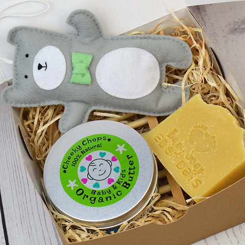 Cheeky Chops Organic Baby Pamper Set with Edi Bear