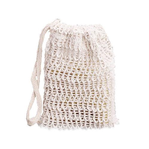 Natural Linen Soap Bag - light exfoliating