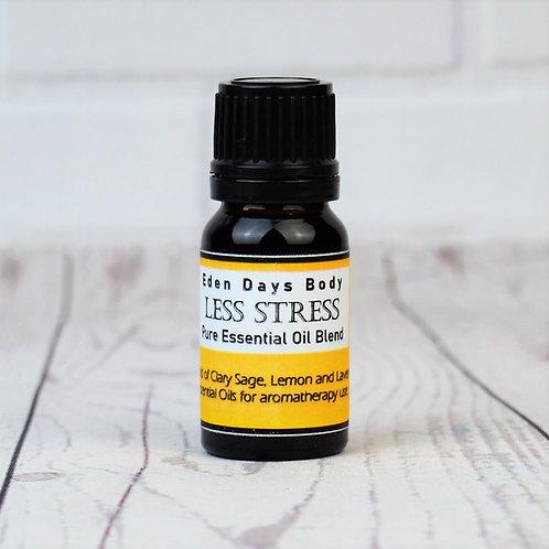 Less Stress Essential Oil Blend  - Clary Sage, Lemon and Lavender