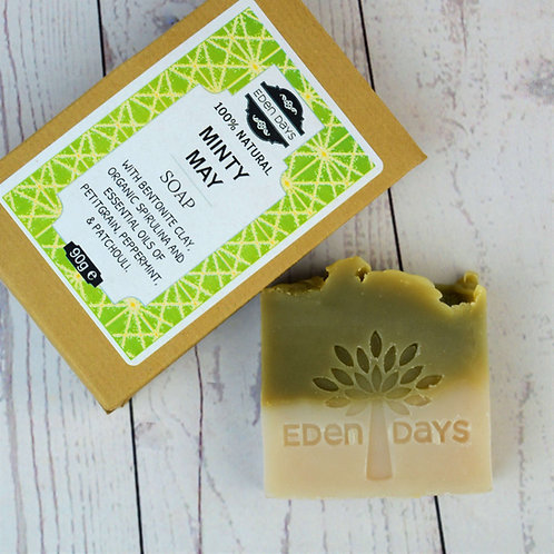 Minty May Soap - Petitgrain, Peppermint & Patchouli