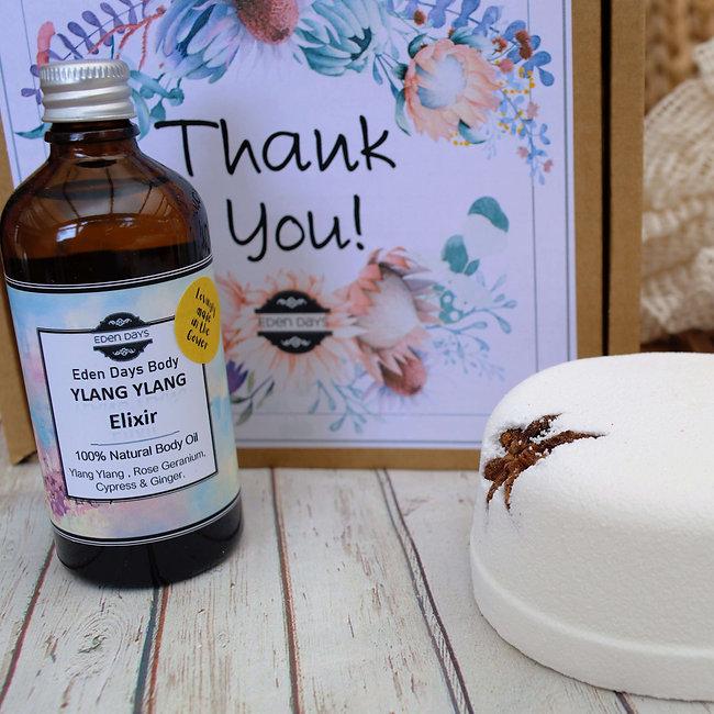 Thank You Gift 100% Natural Body Pamper Set Flowers - Eden Days Body 4..jpg