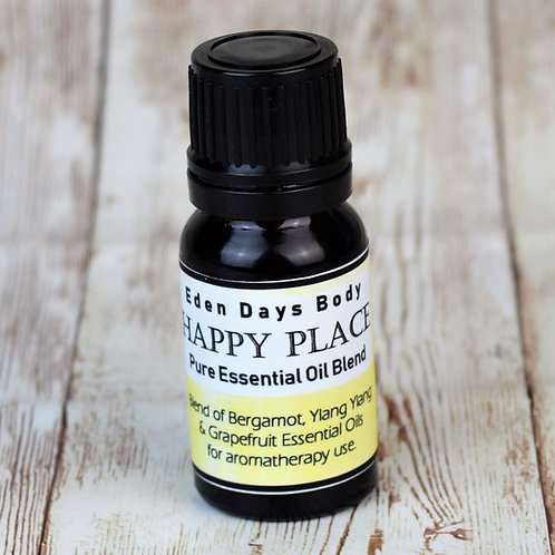 Happy Place Essential Oil Blend -  Bergamot, Ylang Ylang & Grapefruit