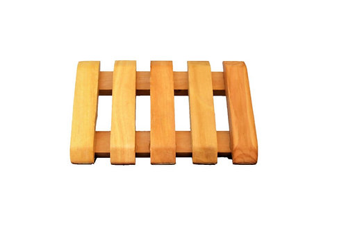 Large Wooden Soap Dish - 2 Soaps