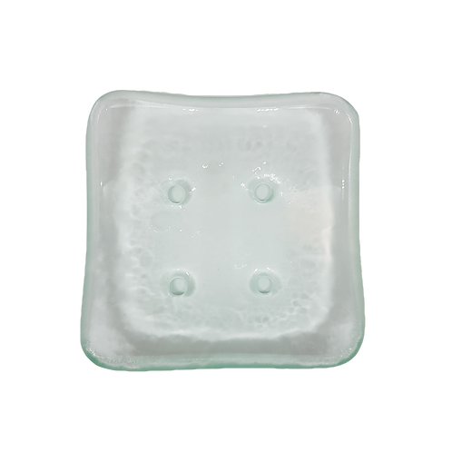 Handmade Recycled Glass Soap Dish