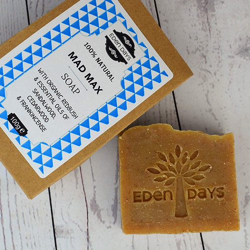 Mad Max Soap -  Cedarwood, Sandalwood, Frankincense & Redbush Botanical