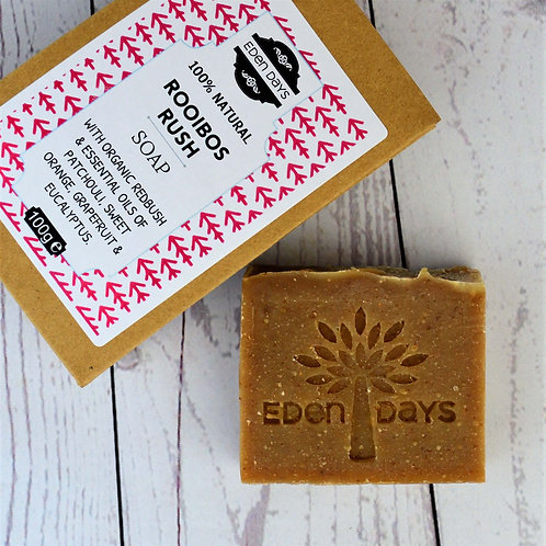 Rooibos Rush Soap - Patchouli, Eucalyptus, Grapefruit, Sweet Orange &  Redbush