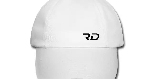 RD OFFICIAL white baseball cap