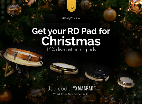 Get your RD Pad before Christmas and get 15% off.