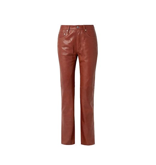JEAN PAUL GAULTIER RED LEATHER TROUSERS