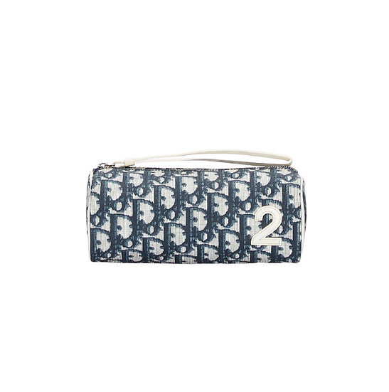 CHRISTIAN DIOR BLUE TROTTER POUCH