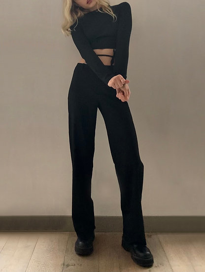 WIDE LEG TAILORED TROUSERS TROUSERS