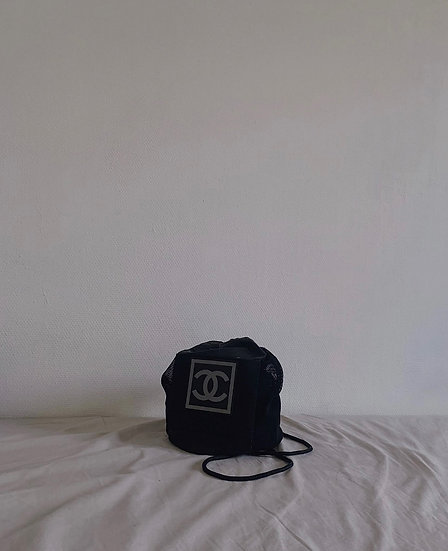 CHANEL 90s CC LOGO MESH BUCKET BAG