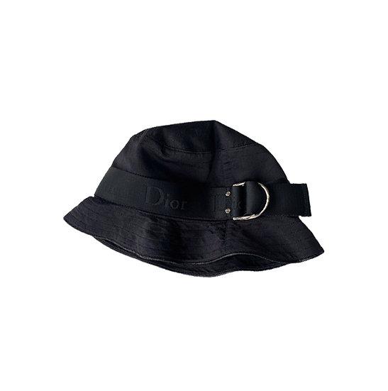 CHRISTIAN DIOR SILK BUCKET HAT