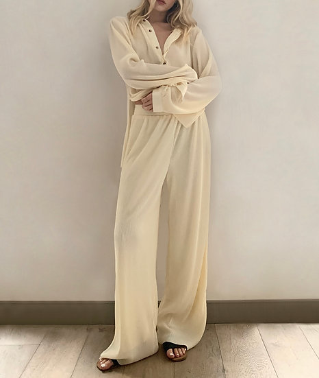 VINTAGE OVERSIZED PLEATED TROUSERS