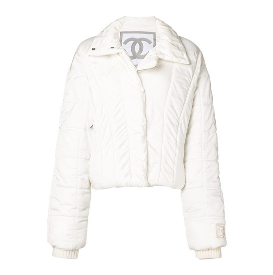 CHANEL SPORTS PADDED PUFFER SKI JACKET WITH CC LOGO