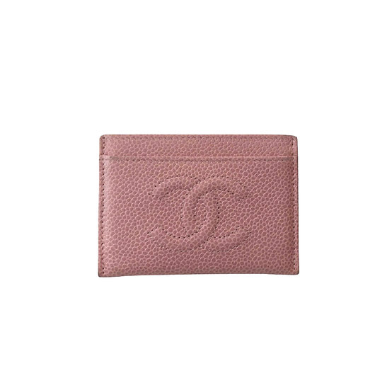 CHANEL BABY PINK CREDIT CARD WALLER