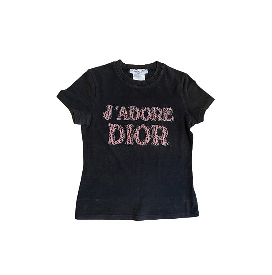 CHRISTIAN DIOR 'J'ADORE DIOR' COTTON TOP
