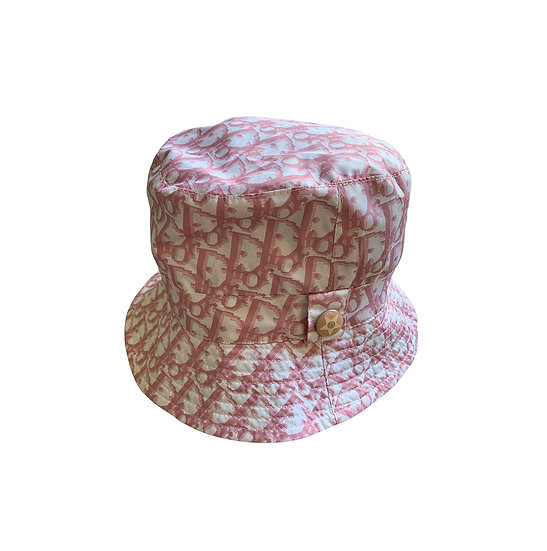 CHRISTIAN DIOR PINK MONOGRAM BUCKET HAT