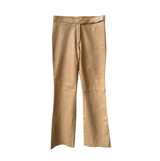 VINTAGE LEATHER FLARE TROUSERS