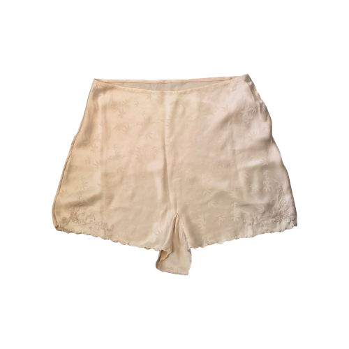 RARE 1940s SILK SHORTS WITH FLORAL EMBROIDERY