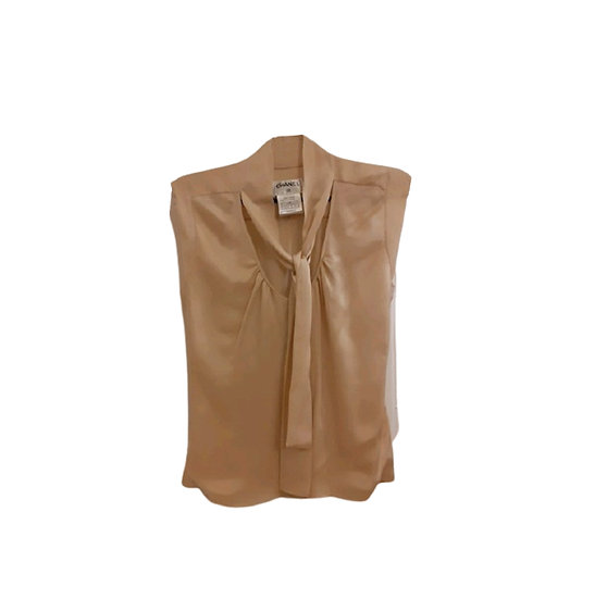 CHANEL PUSSY BOW SILK BLOUSE