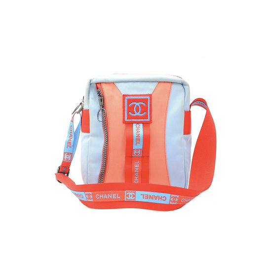 CHANEL SPORTS LINE RED & BLUE SHOULDER BAG