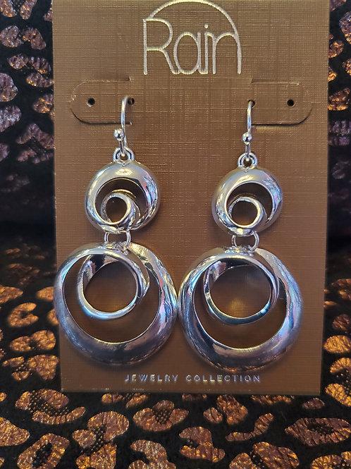 RAIN JEWELRY SHINY DOUBLE CURLS EARRINGS #359
