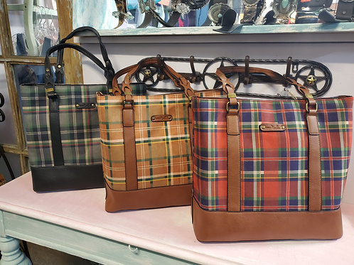 LUMBER JILL TOTE PURSE IN 3 COLORS #479