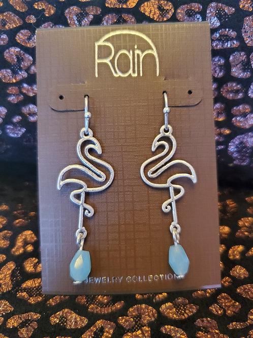 RAIN JEWELRY WIRE FLAMINGO EARRINGS #345