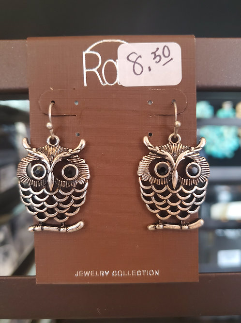 RAIN JEWELRY COLLECTION EARRINGS OWL