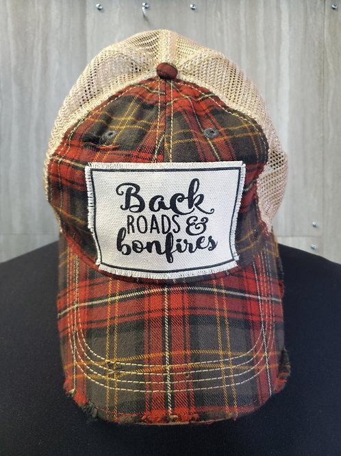 BACK ROADS & BONFIRES BASEBALL CAP HAT