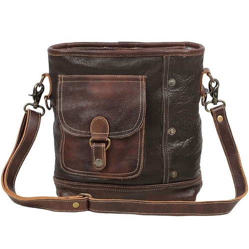 MYRA BAG 100% SOFT LEATHER PURSE WITH ADJUSTABLE STRAP #817