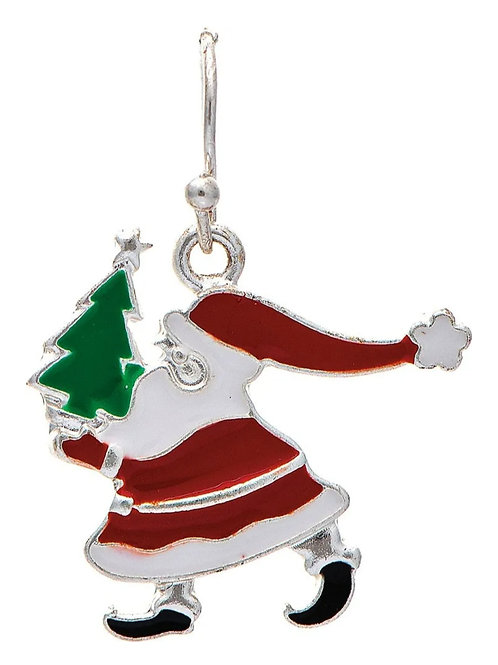 RAIN JEWELRY GIVING TREE SANTA EARRINGS #459