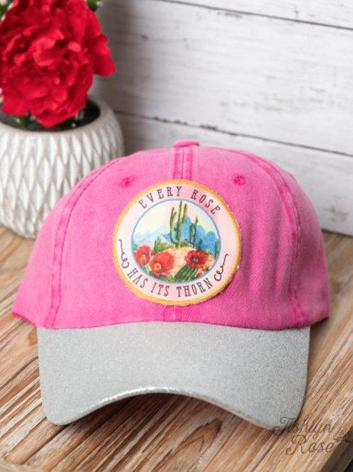 EVERY ROSE HAS IT THORN DESERT BLOOM HAT CAP