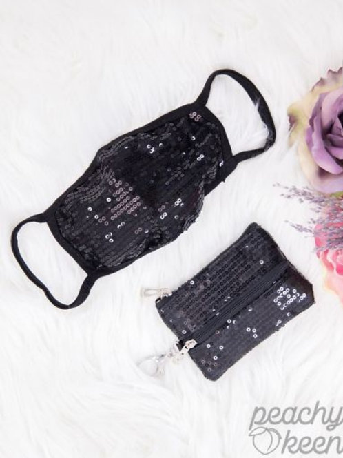 SEQUINS MASKS WITH MINI VERSI BAG IN 3 COLORS!! #303
