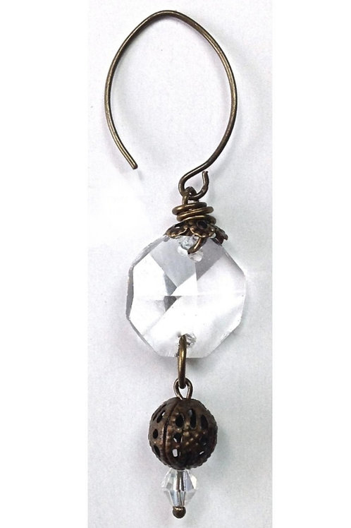 """3"""" DROP CRYSTAL EARRINGS BY LOST & FOUND TRADING CO #015"""