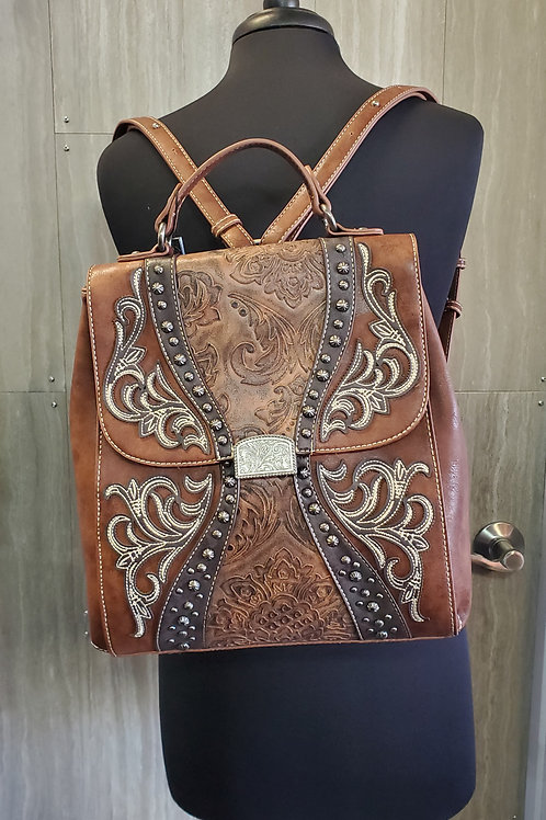 MONTANA WEST BACKPACK PURSE WITH ADJUSTABLE STRAPS