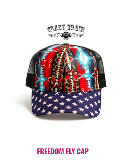 FREEDOM FLY PONYTAIL CAP BY CRAZY TRAIN #848