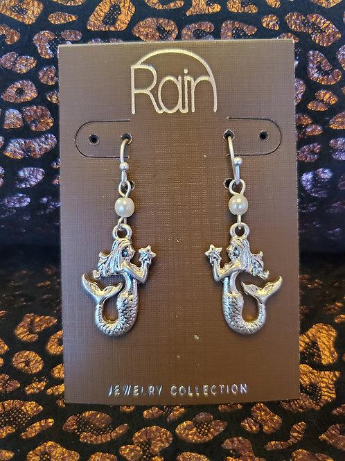 RAIN JEWELRY SILVER MERMAID EARRINGS #358