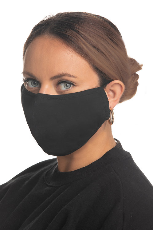 BLACK MISS ME BRAND FACE MASKS WITH TWO DISPOSABLE FILTERS #259