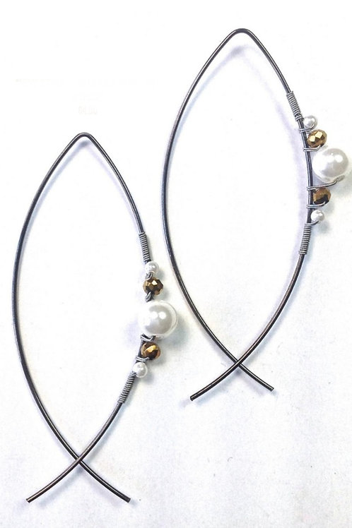 """3"""" EARRINGS BY LOST & FOUND TRADING CO #026"""