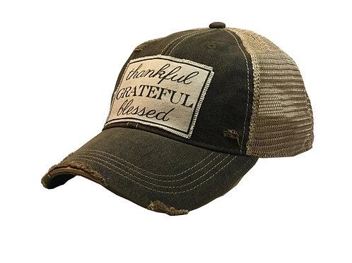 """THANKFUL GRATEFUL BLESSED "" BASEBALL STYLE CAP HAT #173"