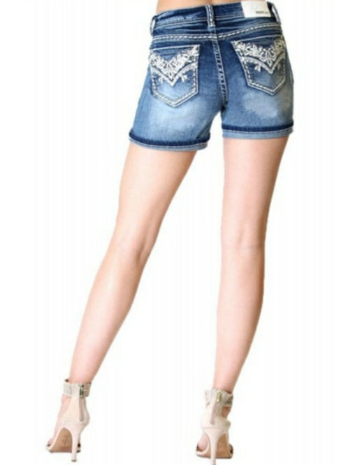 EASY FIT MID RISE GRACE IN LA SHORTS WITH EMBROIDERY in sizes 26 to 34