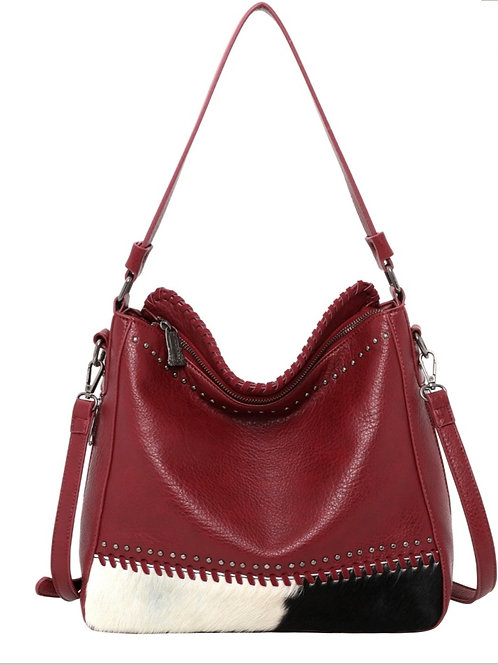 MONTANA WEST HAIR ON CONCEALED CARRY PURSE BAG RED #643