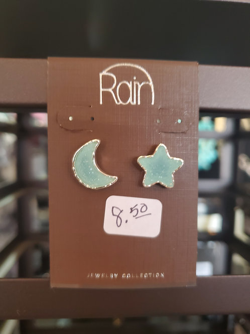 RAIN JEWELRY COLLECTION EARRINGS MOON & STAR