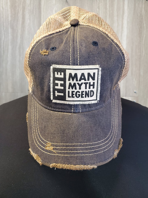 THE MAN THE MITH THE LEGEND BASEBALL CAP HAT