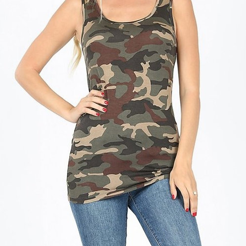 SUPER STRETCHY CAMO TANK #048