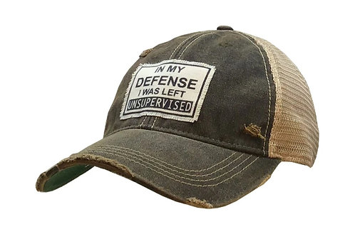 """""""IN MY I WAS LEFT UNSUPERVISED """" BASEBALL STYLE CAP HAT #163"""