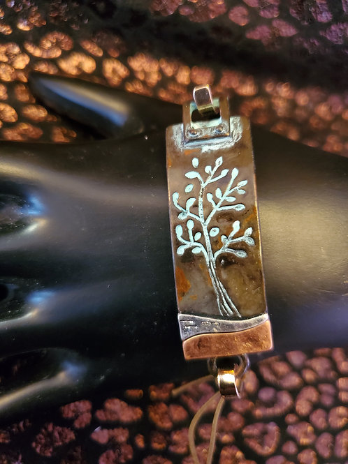 RAIN JEWELRY COPPER PATINA TREE HOOK BRACELET #413