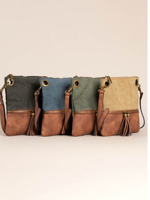 SIMPLY NOELLE OPEN ROAD MESSENGER BAG PURSE IN 4 COLORS #330